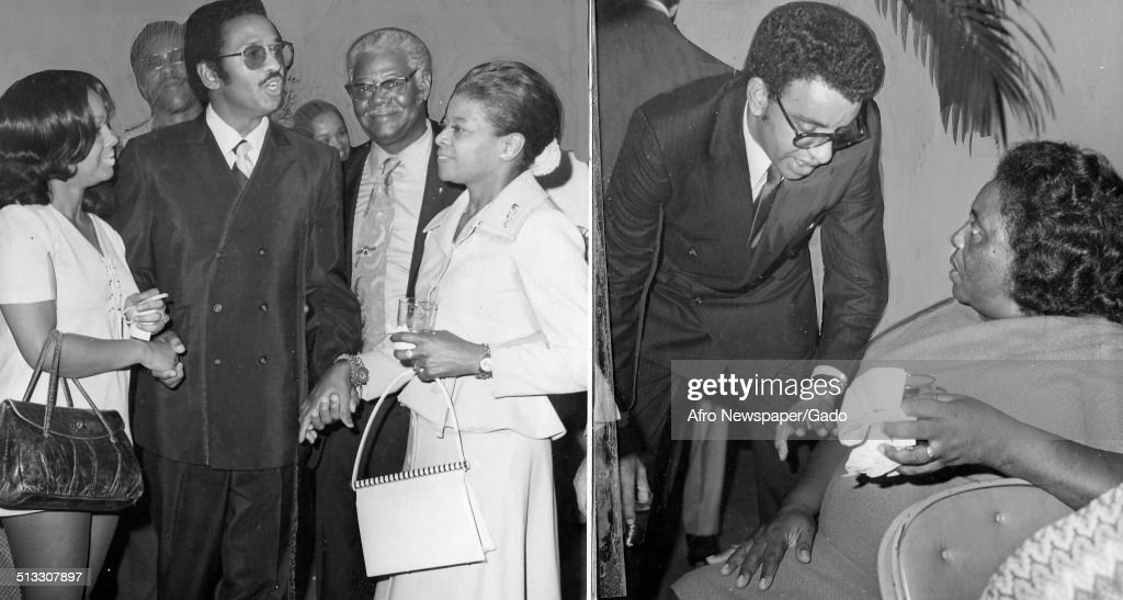 Collage of civil rights activist and organizer of the Student Nonviolent Coordinating Committee Fannie Lou Hamer, Malcolm Diggs, John Conyers and Maria Morgan, 1965.