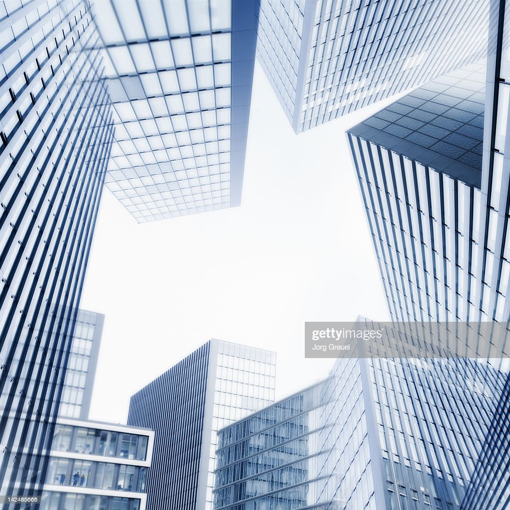 Collage of modern high-rise buildings : Stock Photo
