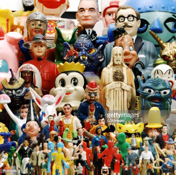 Collage of Plastic Figurines