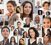 Collage of women's smiling faces