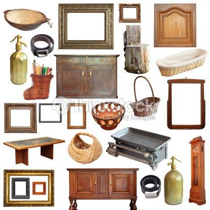 Collage con objetos antiguos vintage foto de stock for Vintage muebles y objetos