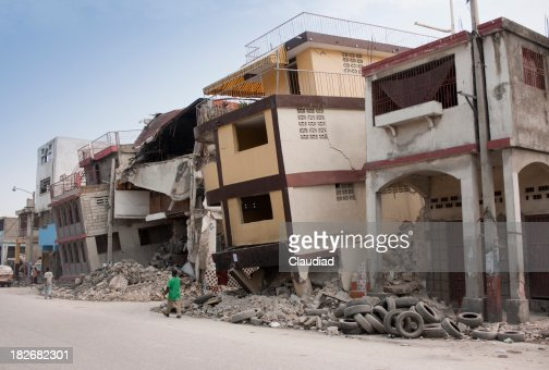Collapsed houses