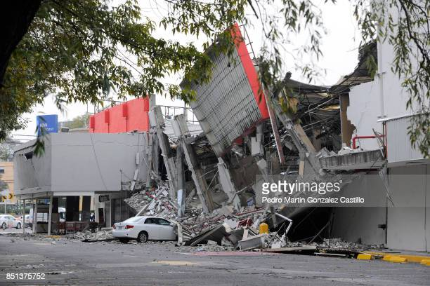 A collapsed supermarket is seen at Taxqueña two days after the magnitude 71 earthquake jolted central Mexico killing more than 250 hundred people...