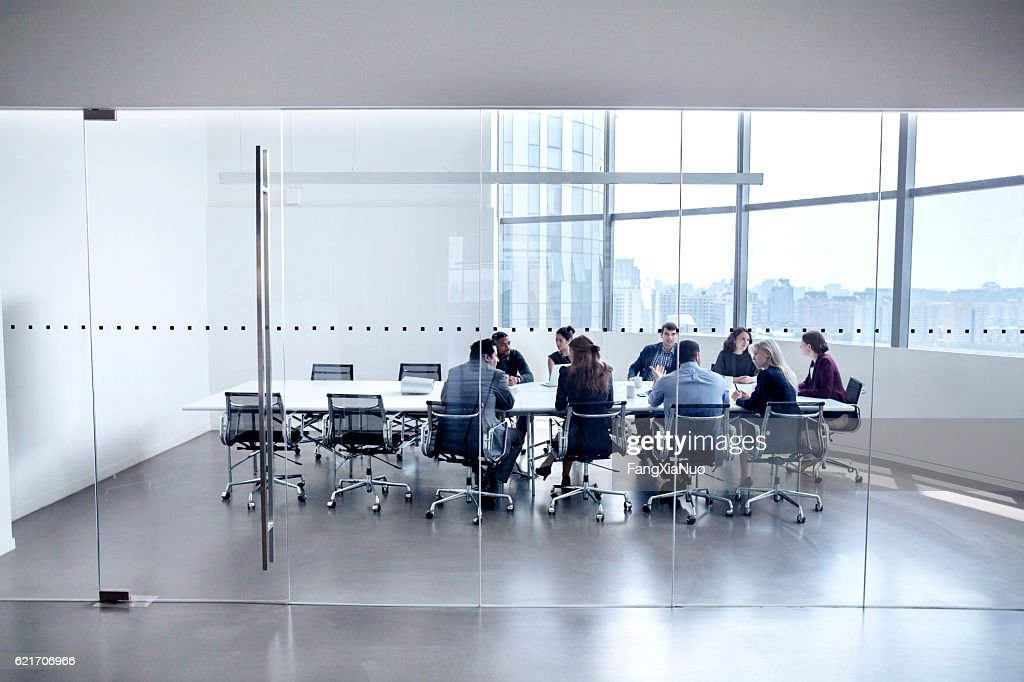 Colleagues at business meeting in conference room : Stockfoto