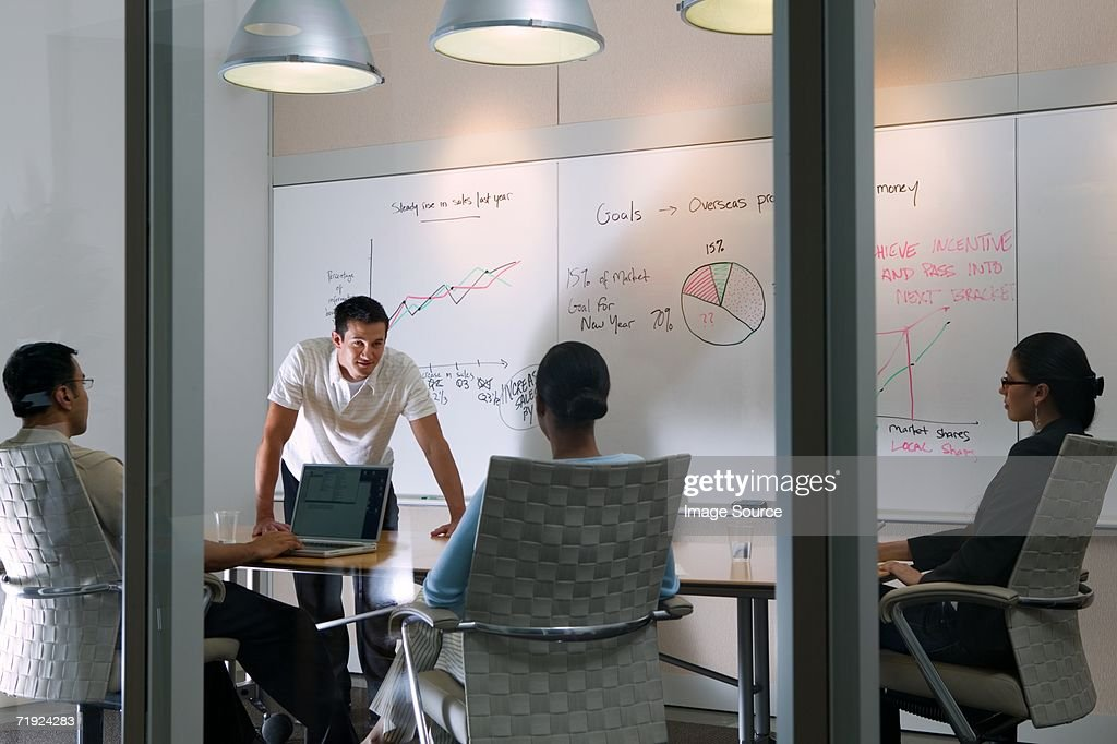 Colleagues in a meeting : Stock Photo