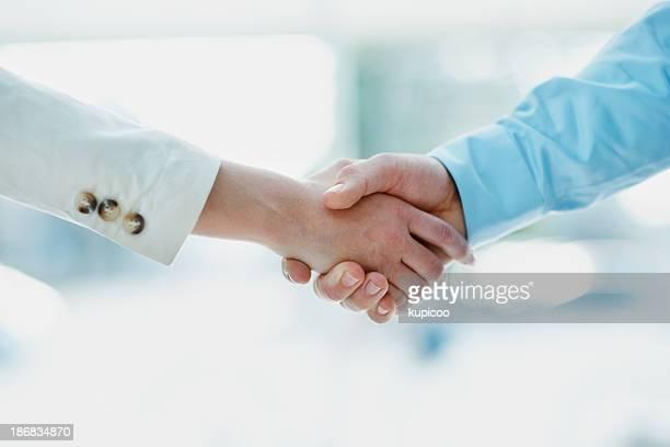 Kollegen in Vereinbarung
