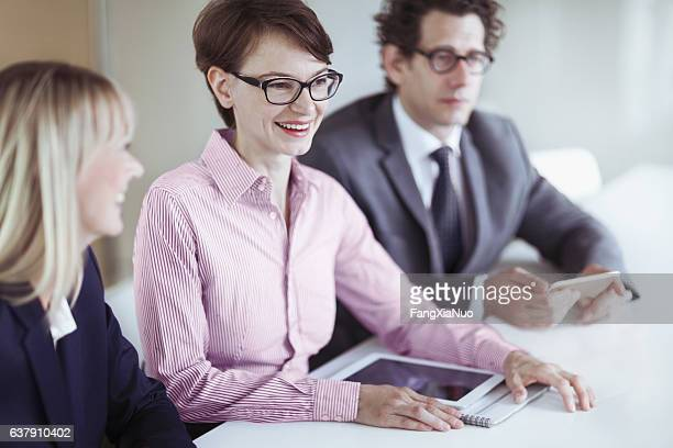 Colleagues in meeting at conference table