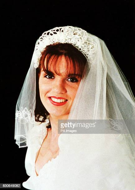 Collect picture of Beverley Payne a motheroftwo from Neath South Wales pictured wearing a wedding dress as a modelling assignment Ms Payne who was...