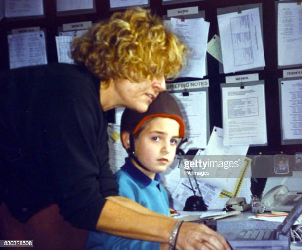 Collect picture of Lynn Majakas Headmistress of Bedelsford School for special needs in Kingston upon Thames with one of her pupils Sebastian Selo *...