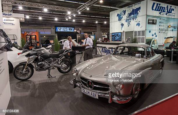 Collectible Mercedes Benz 300 SL at Clim Air stand in Automechanika 2014 Frankfurt Germany 16 September 2014 on opening day Automechanika Frankfurt...