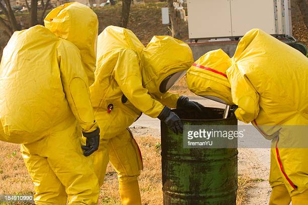Collecting hazardous material