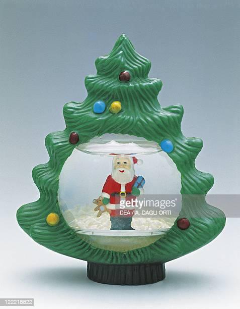 Collecting Snowglobes Christmas Theme Christmas Tree and Santa Claus Plastic