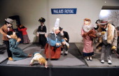 A collection from an exhibtion of 19th and 20th century automated toys depicts a Parisian metro station presented at the Automaton Museum in Souillac...