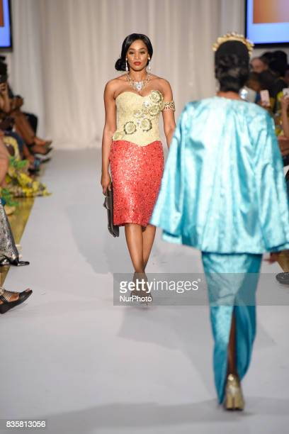 Collection of Adebayo Jones a London based Fashion Designer also called the godfather of African fashion in Toronto Canada on 19 August 2017