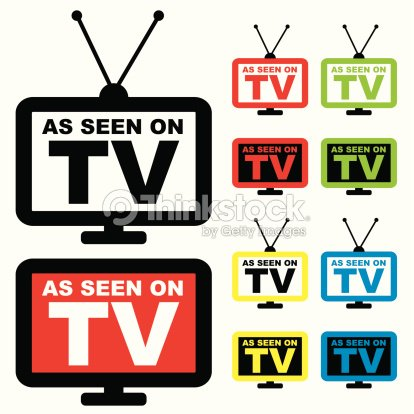 collection of as seen on tv icon with television aerial ストック