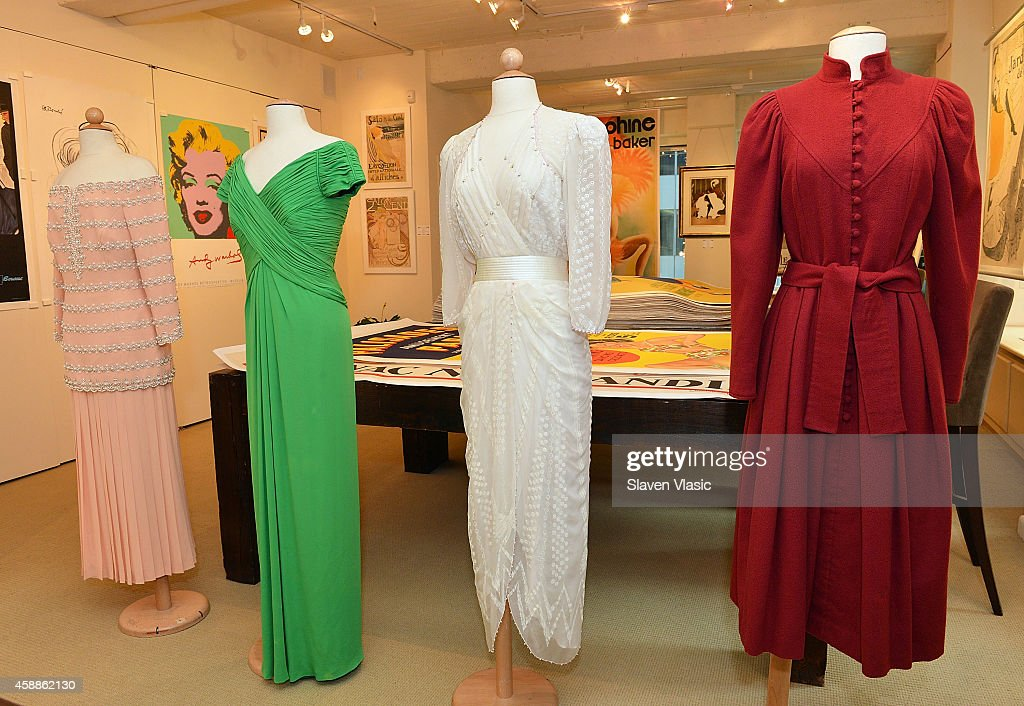 A collection of gowns worn by HRH Princess Diana to be auctioned by Julien's Auctions of Beverly Hills December 5-6, 2014 on display at Ross Art Gallery on November 12, 2014 in New York City.
