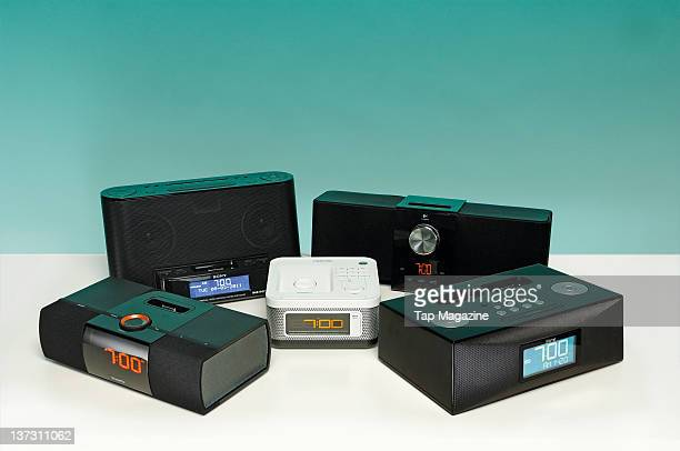 A collection of iPhone dock alarm clocks February 8 2011