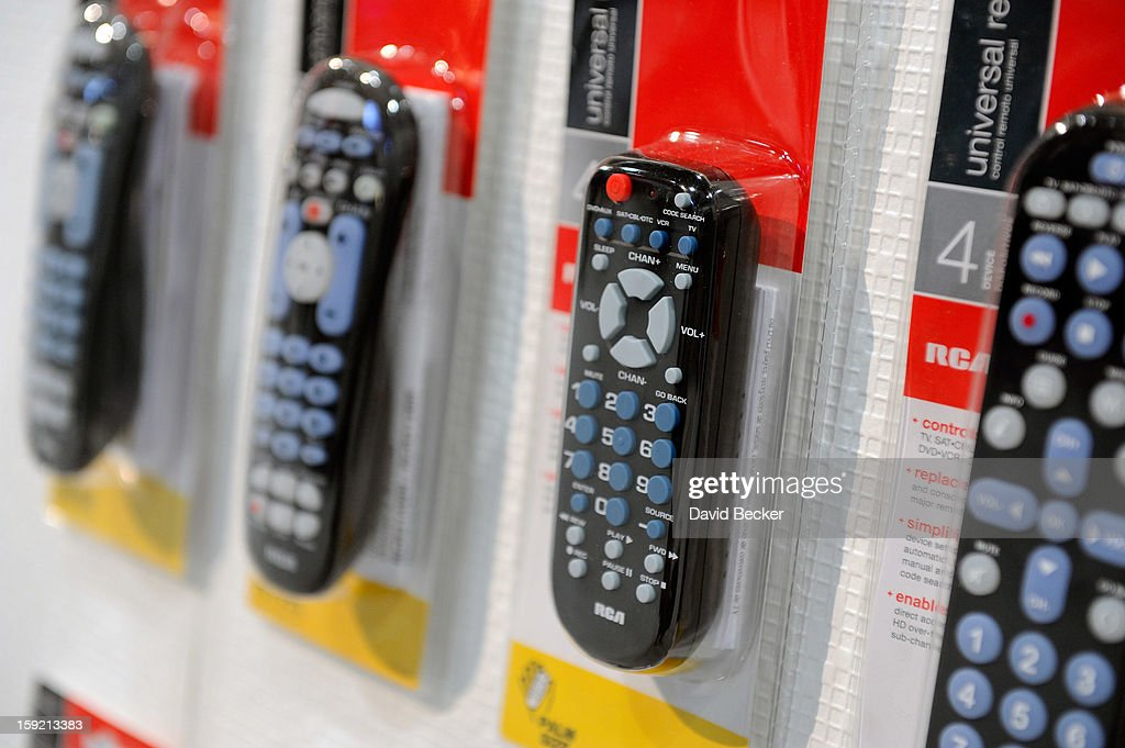 A collection of remote controls are on display at the RCA booth at the 2013 International CES at the Las Vegas Convention Center on January 9, 2013 in Las Vegas, Nevada. CES, the world's largest annual consumer technology trade show, runs through January 11 and is expected to feature 3,100 exhibitors showing off their latest products and services to about 150,000 attendees.