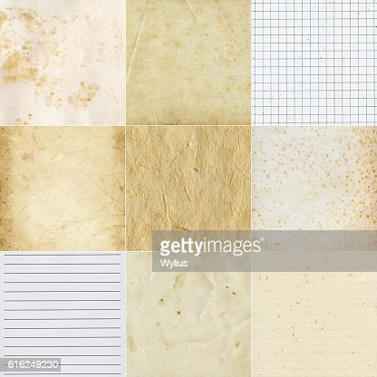 Collection of various paper textures : Stock Photo