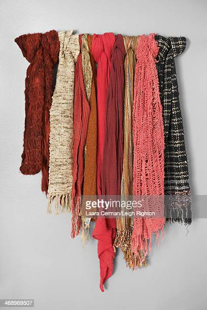 A collection of women's scarves.
