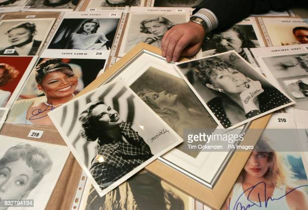 Collector Alan Robinson arranges signed photographs of Grace Kelly Greta Garbo and Helen Mirren some of his most valuable autographed photographs of...