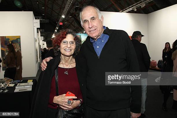 Collectors Susan Hort and Michael Hort attend the Art Los Angeles Contemporary 2017 opening night at Barker Hangar on January 26 2017 in Santa Monica...