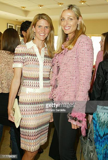 Colleen Bell and Jamie Tisch during Ungaro Breakfast Honoring Giambattista Valli at Barneys New York Store in Beverly Hills California United States