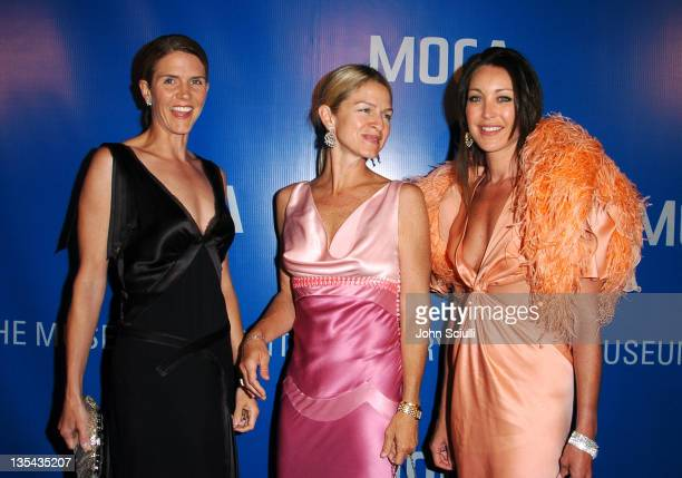 Colleen Bell Crystal Lourd and Tamara Mellon during MOCA Celebrates 25 Years Of Groundbreaking Art Achievements Red Carpet at MOCA at The Geffen...