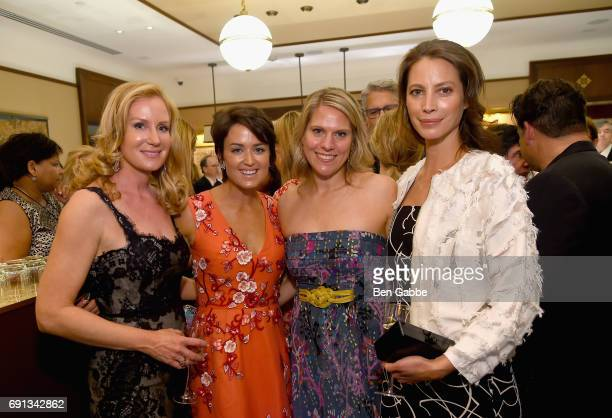 Colleen deVeer Wendy Reyes Eliza Niblock McCrory and Christy Turlington attend the Betteridge Cartier Cocktail Reception during the Greenwich...