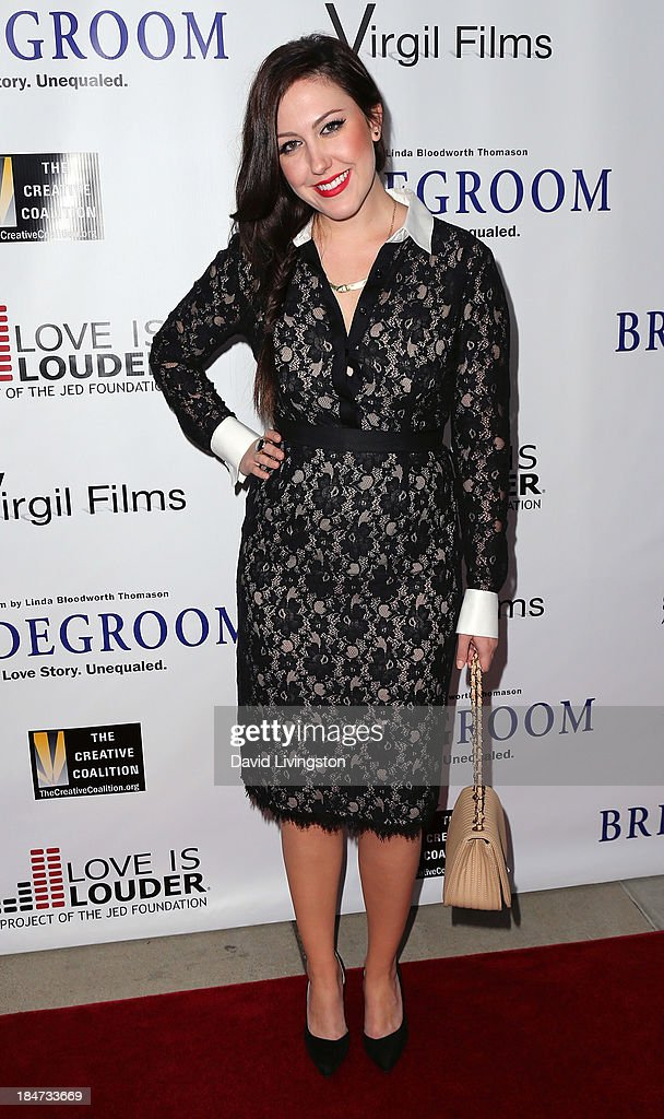 Colleen McMahon attends the premiere of 'Bridegroom' at the AMPAS Samuel Goldwyn Theater on October 15, 2013 in Beverly Hills, California.
