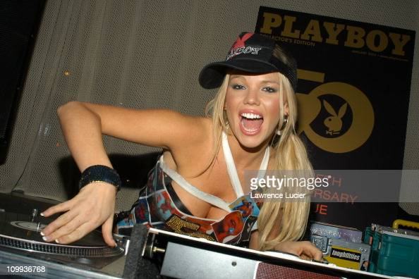 Colleen Shannon during 50th Anniversary Playboy Playmate Colleen Shannon DJ's At SPIN at Tribeca Grand in New York City New York United States