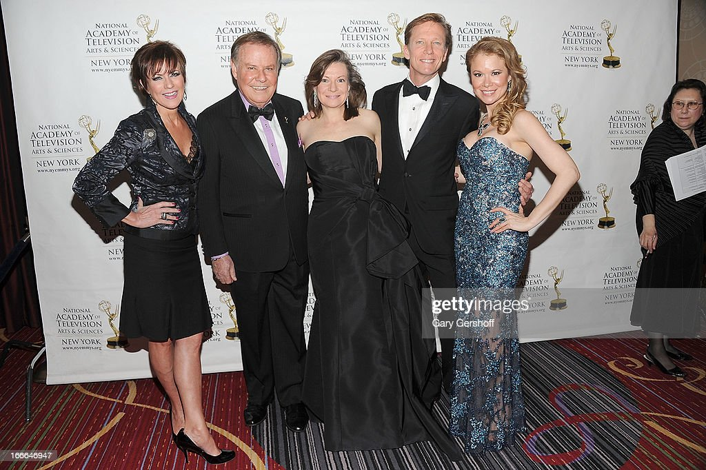 Colleen Zenk, Marvin Scott, Denise Rover, N.J. Burkett and Jacqueline J. Gonzalez attend the 56th Annual New York Emmy Awards at Marriott Marquis Times Square on April 14, 2013 in New York City.