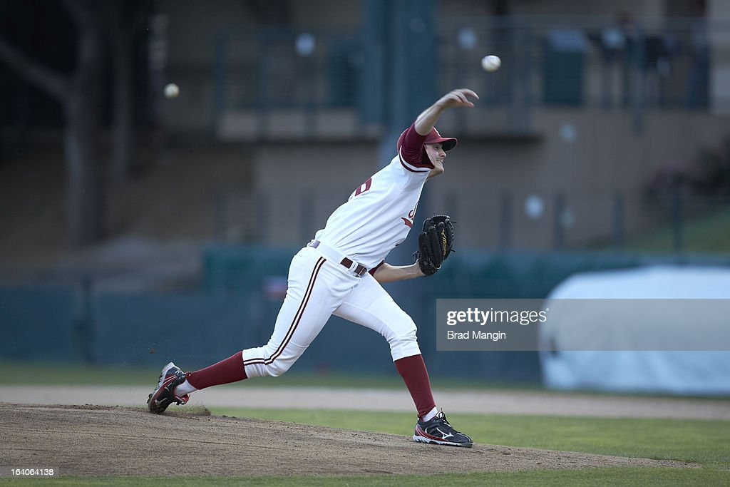 Stanford Mark Appel (26) in action, pitching vs UNLV at Klein Field at Sunken Diamond. Appel is a top pitching prospect. Brad Mangin F367 )