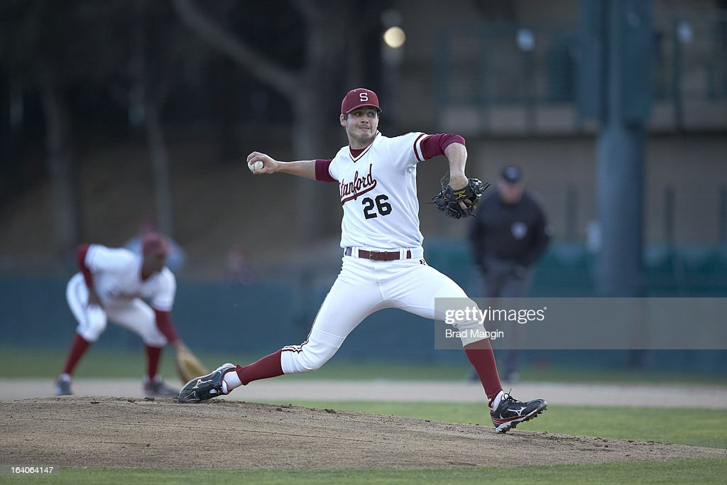Stanford Mark Appel (26) in action, pitching vs UNLV at Klein Field at Sunken Diamond. Appel is a top pitching prospect. Brad Mangin F442 )