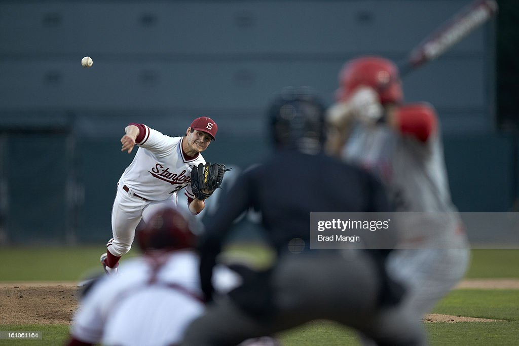 Stanford Mark Appel (26) in action, pitching vs UNLV at Klein Field at Sunken Diamond. Appel is a top pitching prospect. Brad Mangin F598 )