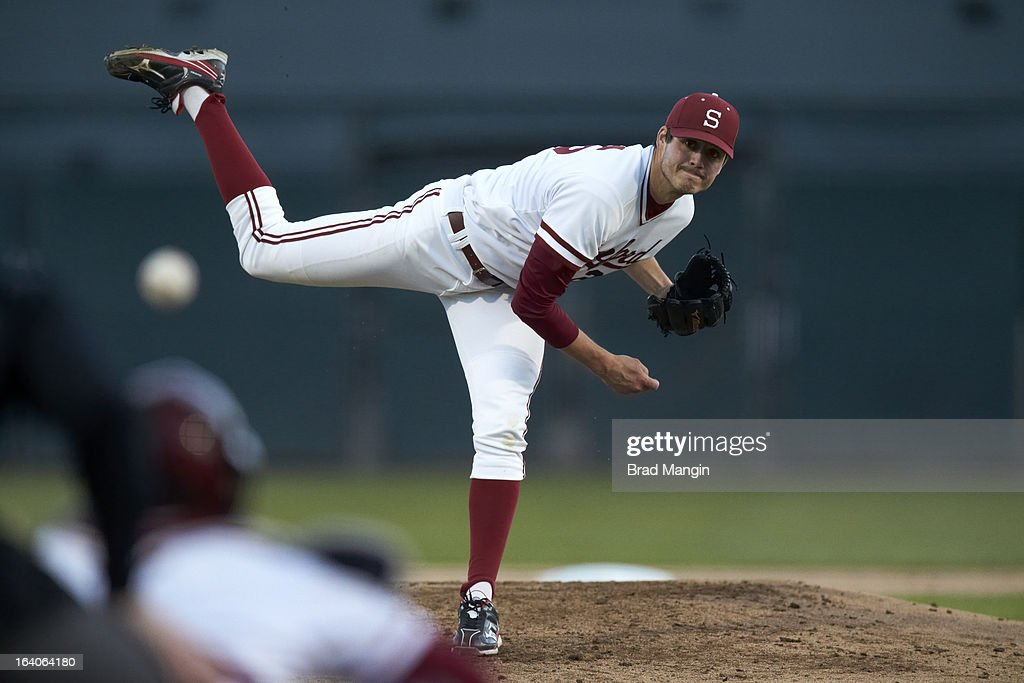 Stanford Mark Appel (26) in action, pitching vs UNLV at Klein Field at Sunken Diamond. Appel is a top pitching prospect. Brad Mangin F32 )
