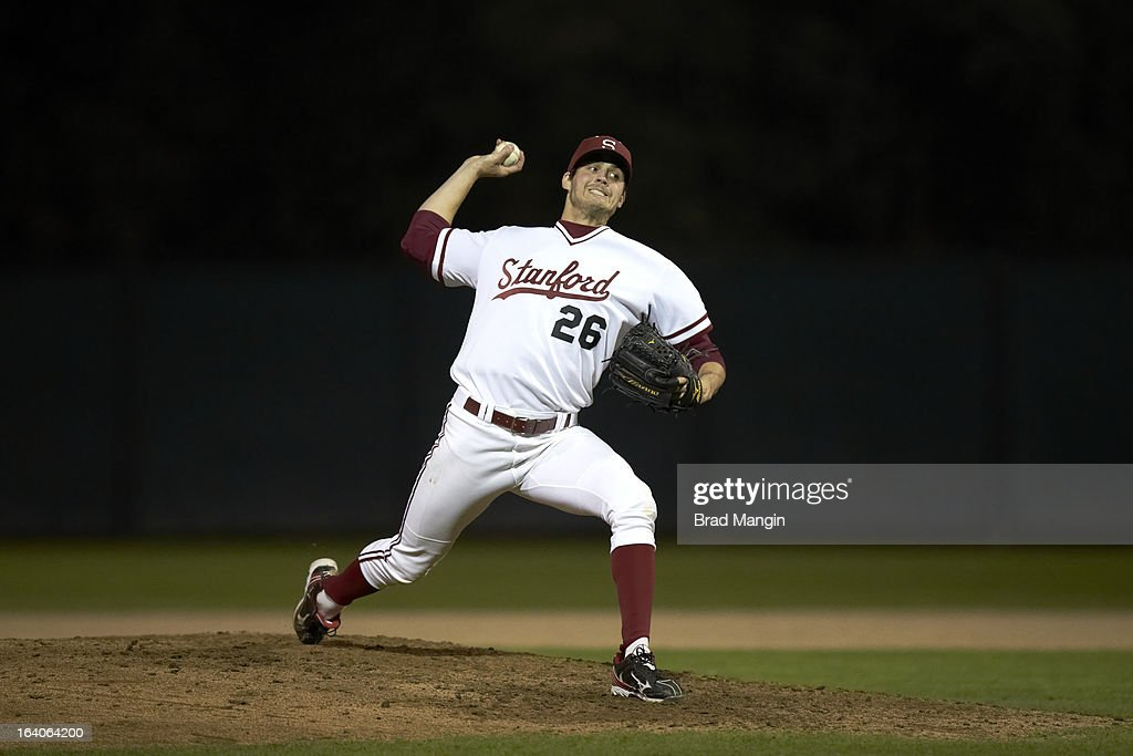 Stanford Mark Appel (26) in action, pitching vs UNLV at Klein Field at Sunken Diamond. Appel is a top pitching prospect. Brad Mangin F437 )