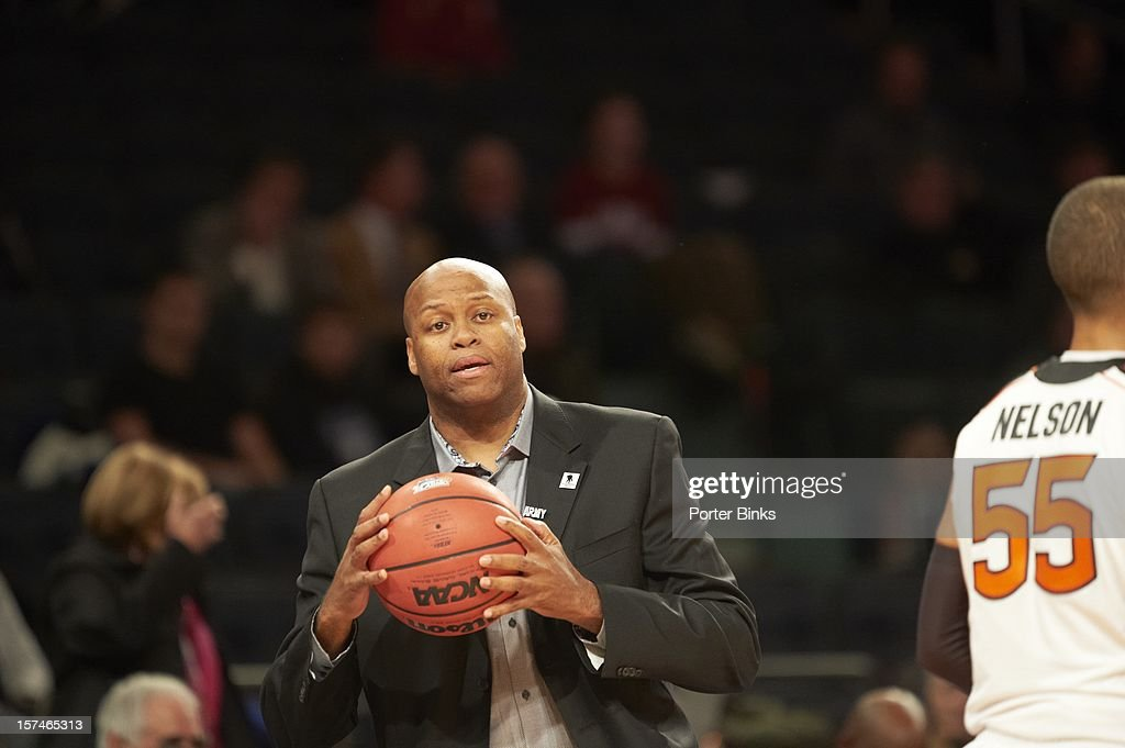 2K Sports Classic Oregon State coach Craig Robinson during game vs Alabama at Madison Square Garden New York NY CREDIT Porter Binks