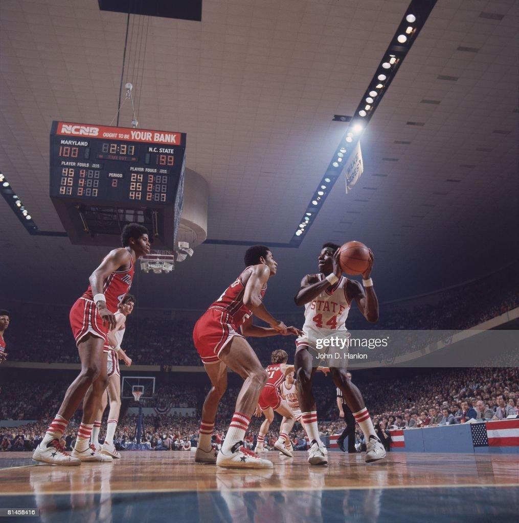 College Basketball ACC Tournament North Carolina State David Thompson in action vs Maryland Greensboro NC 3/9/1974