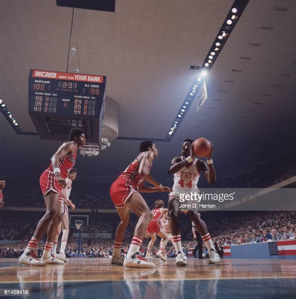 College Basketball ACC Tournament North Carolina State David Thompson in action vs Maryland Greensboro NC 3/9/1974