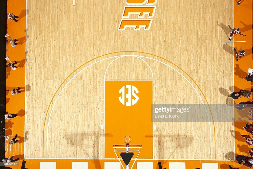 Aerial view of The Summitt court at ThompsonBoling Arena during Tennessee vs Indianapolis game Knoxville TN 11/3/2008 CREDIT David E Klutho