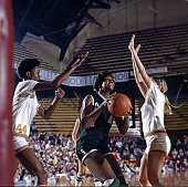 AIAW Semifinal Delta State Lusia Harris in action vs Tennessee at Williams arena Minneapolis MN CREDIT John G Zimmerman