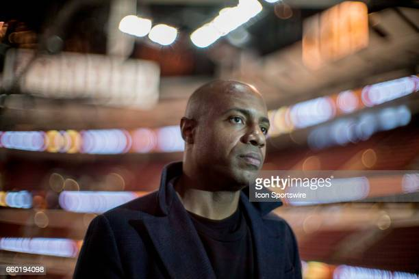 ESPN college basketball analyst and former Chicago Bulls No 2 overall draft pick Jay Williams gives an interview to the media during the McDonald's...