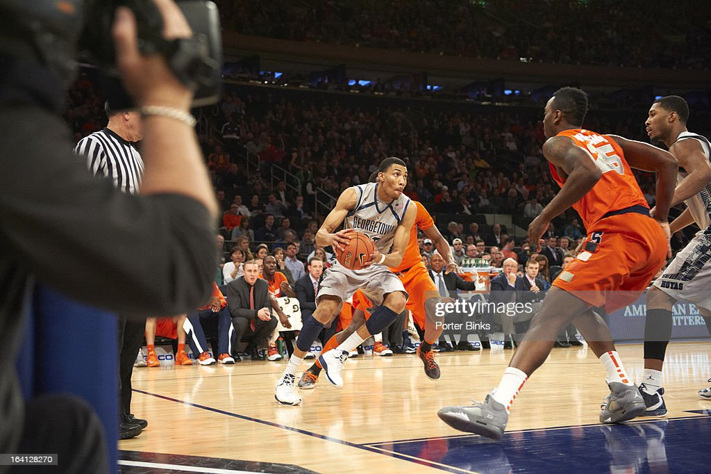 Georgetown Otto Porter Jr. (22) in action vs Syracuse during Semifinal game at Madison Square Garden. Porter Binks F76 )