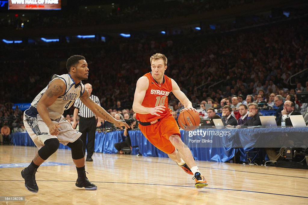 Syracuse Trevor Cooney (10) in action vs Georgetown during Semifinal game at Madison Square Garden. Porter Binks F9 )