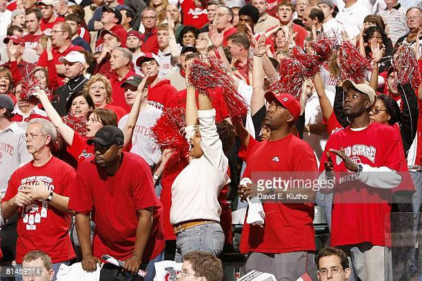 College Basketball Big Ten Tournament View of Ohio State fans in stands during game vs Indiana Indianapolis IN 3/11/2006