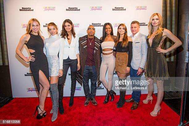 Bracket Challenge Party SI Swimsuit models Caroline Kelley Caroline Kelley Bo Krsmanovic celebrity rapper Ja Rule Ebonee Davis Kyra Santoro SI vice...