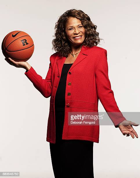 College basketball coach C Vivian Stringer poses for a portrait on August 25 2007 in New York New York