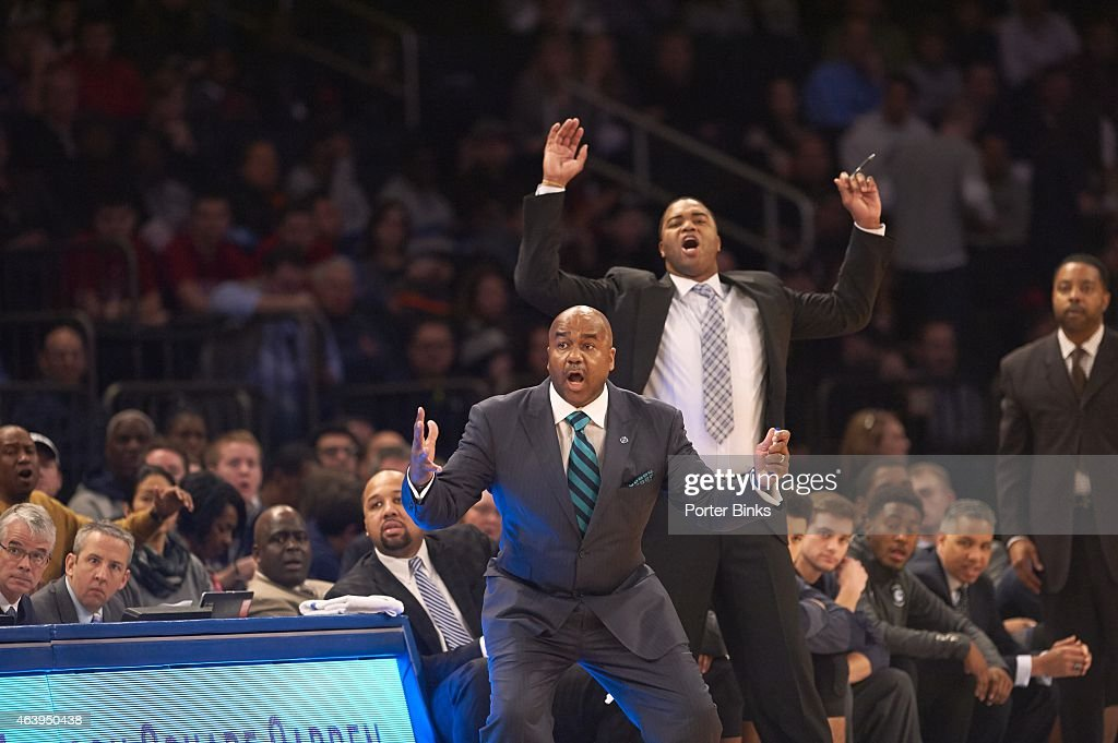 Georgetown coach John Thompson III during game vs Indiana at Madison Square Garden New York NY CREDIT Porter Binks