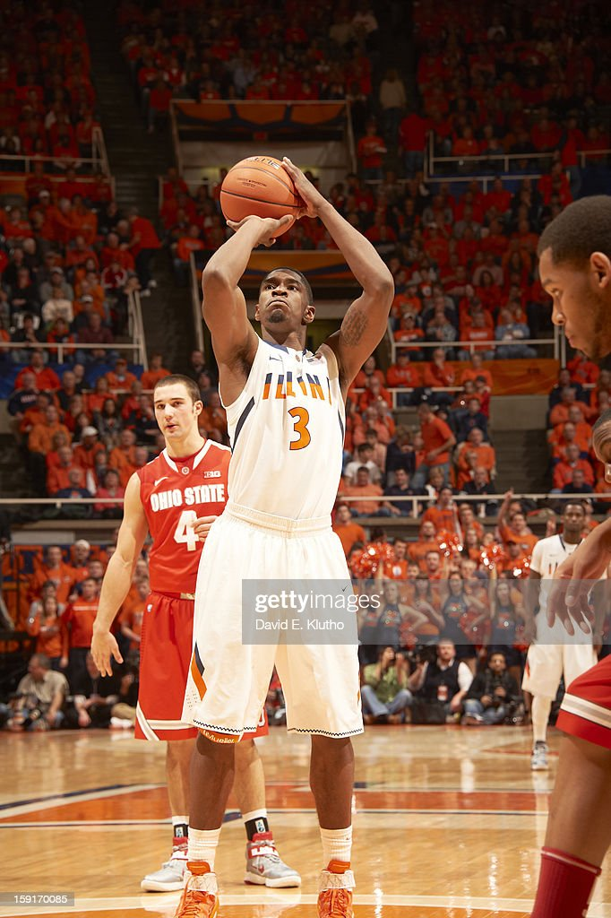 Illinois Brandon Paul (3) during free throw vs Ohio State at Assembly Hall. David E. Klutho F121 )